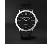 Classima Automatic 42mm Stainless Steel and Leather Watch, Ref. No. M0A10453