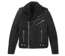 Slim-fit Shearling Biker Jacket
