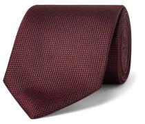 7cm Silk-jacquard Tie - Burgundy