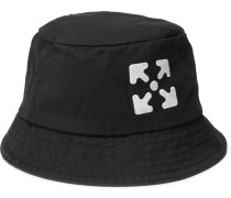 Logo-Embroidered Cotton-Twill Bucket Hat