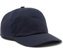 Wool-blend Baseball Cap - Navy
