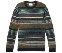 John Striped Brushed Wool Sweater