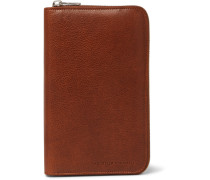 Burnished Full-grain Leather Zip-around Wallet - Tan