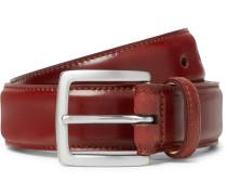 3.5cm Cognac Horween Shell Cordovan Leather Belt - Brick