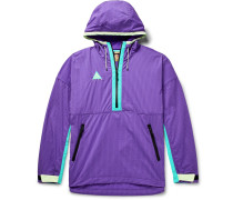 Acg Colour-block Nylon-blend Ripstop And Shell Hooded Jacket