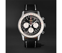 Navitimer 01 Chronograph 43mm Stainless Steel and Leather Watch, Ref. No. AB012012/BB01