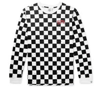 Logo-Print Checked Cotton-Jersey T-Shirt