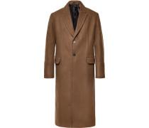 Virgin Wool Coat - Brown