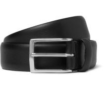 3cm Black Leather Belt