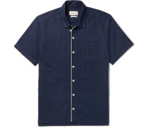 Linton Piped Linen and Cotton-Blend Shirt