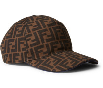 Logo-print Woven Baseball Cap - Brown