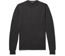 Slim-fit Wool Sweater - Charcoal