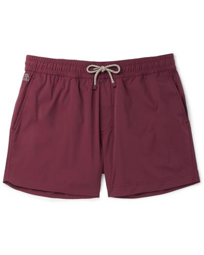 Mid-length Swim Shorts - Burgundy