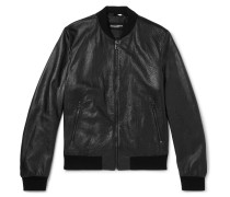 Full-grain Leather Bomber Jacket