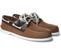 Authentic Original Nubuck and Leather Boat Shoes