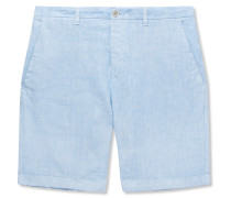 Slim-fit Linen Shorts