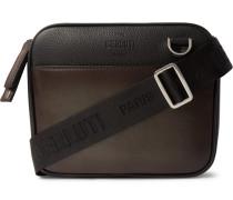 Contraste Leather Messenger Bag