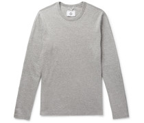 Mélange Cotton-jersey Sweatshirt - Gray
