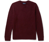 Suede Elbow-patch Wool And Cashmere-blend Sweater