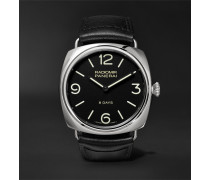 Radiomir Black Seal 8 Days Acciaio 45mm Stainless Steel And Leather Watch
