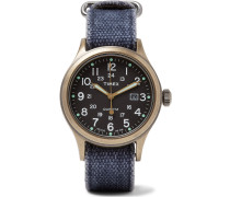 Allied Bronze-tone And Canvas Watch