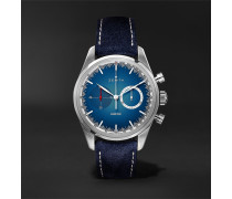 Chronomaster El Primero Solar Blue Limited Edition Automatic Chronograph 38mm Stainless Steel And Alcantara Watch - Blue