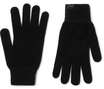 Cashmere and Wool-Blend Gloves