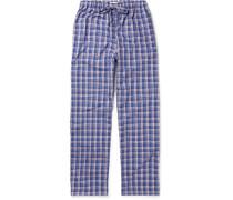 Barker Checked Cotton Pyjama Trousers