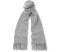 Canada Fringed Mélange Wool Scarf