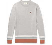 Striped Mélange Wool Sweater - Gray