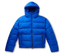 Slim-Fit Quilted Ripstop Hooded Jacket