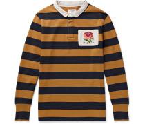 Appliquéd Cotton-jersey Polo Shirt