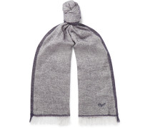 Fringed Linen, Cashmere, Silk and Wool-Blend Scarf
