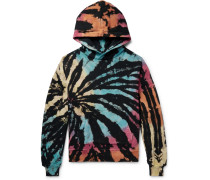 Oversized Tie-dyed Loopback Cotton-jersey Hoodie - Multi