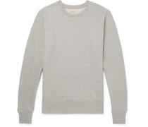 Evert Mélange Loopback Organic Cotton-jersey Sweatshirt