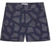 Modernist Slim-Fit Mid-Length Jacquard Swim Shorts