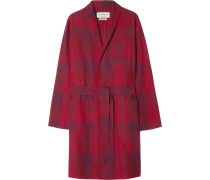 Checked Cotton Robe