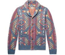 Shawl-collar Cotton-blend Cardigan - Multi