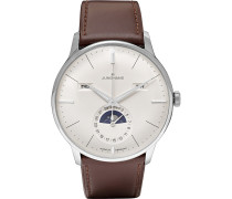 Meister Kalender 40mm Stainless Steel And Leather Watch - White