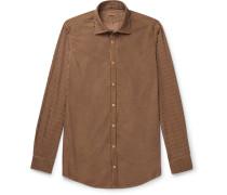 Striped Watercolour-Dyed Cotton Shirt