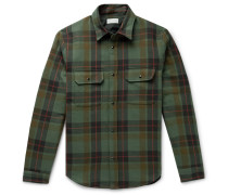 Jupiter Padded Checked Cotton-Flannel Overshirt