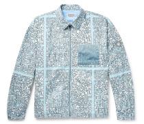 Noise Printed Brushed-Cotton Jacket