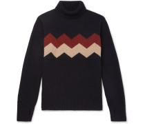Talbot Slim-Fit Wool-Jacquard Rollneck Sweater