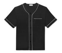 Piped Lyocell Baseball Shirt