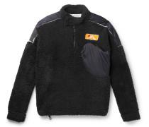 Shell-Trimmed Fleece Half-Zip Sweatshirt