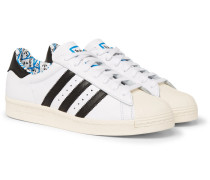 + Have A Good Time Superstar Leather Sneakers - White