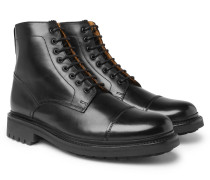 Joseph Polished-leather Boots - Black