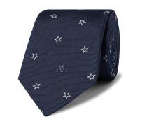 8cm Embroidered Silk-Twill Tie