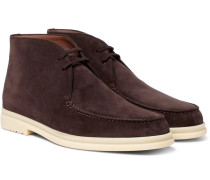Walk And Walk Suede Chukka Boots - Brown