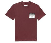 Logo-Appliquéd Mélange Cotton-Jersey T-Shirt